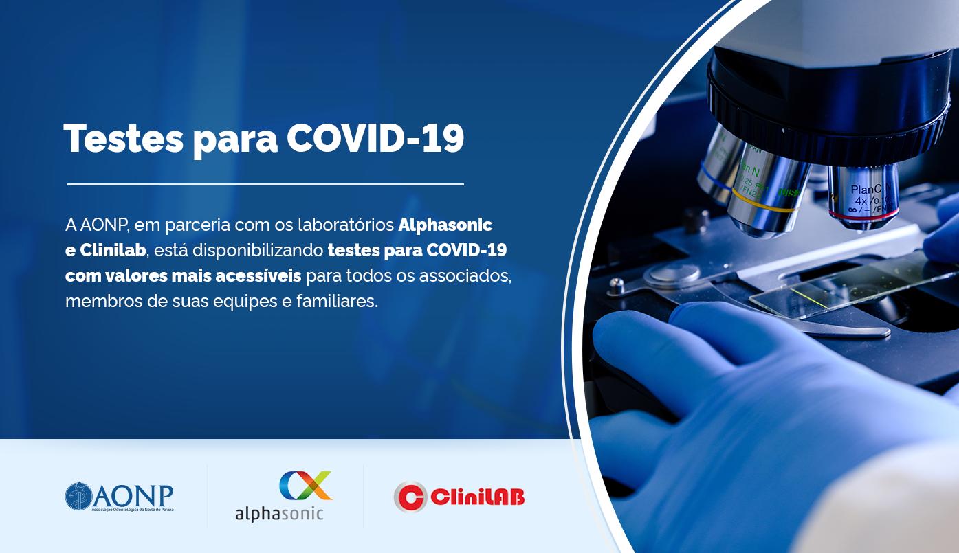 Testes para COVID-19 com valores mais acessíveis para todos os associados, membros de suas equipes e familiares